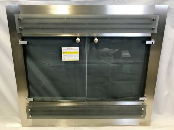 Stoll Prefab Fireplace Contemporary Re Face Kit Brushed Nickel 35.5quot; x 31.75quot;