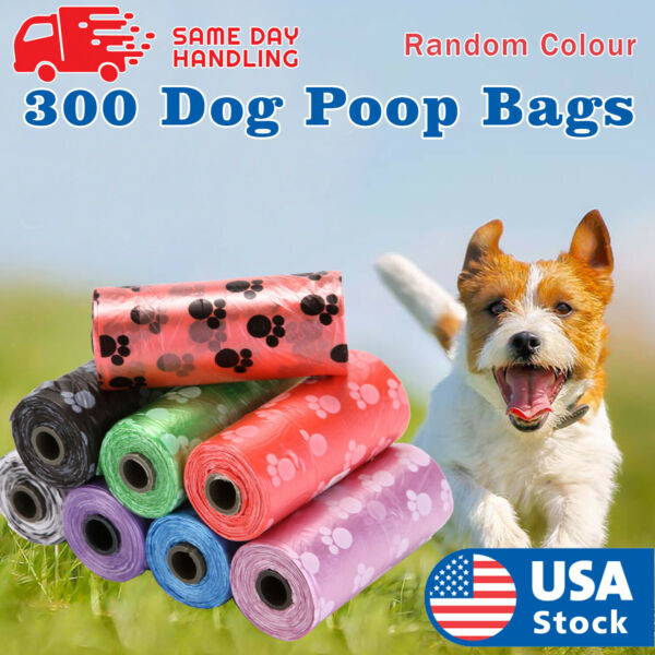 300 Poop Bag Dog Waste Pick Up Clean Bags $9.58