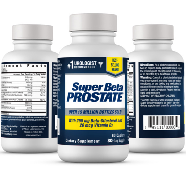 Super Beta Prostate Supplement Reduce Frequent Urges to Urinate NEW FREE Samp;H $19.29