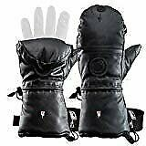 Heat 3 Gloves Layer System Shell Smart Full Leather Black Size 12 $205.00