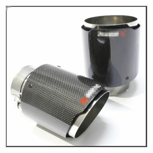 Luxury Stainless Steel Modify Carbon Fiber Car Exhaust Muffler Pipe Tip 60-89mm