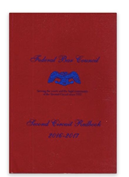 Federal Bar Council Second Circuit Redbook 2016 2017