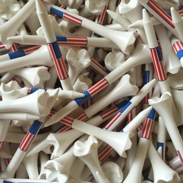 Pride Evolution USA American Flag 3 1 4quot; 3.25 Golf Tees White You Choose the # $14.95