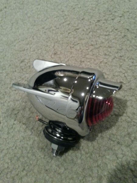 BICYCLE REAR DUMMY LIGHT BULLETWINGS RED CHROME CRUISER LOWRIDER. blueclear $21.99