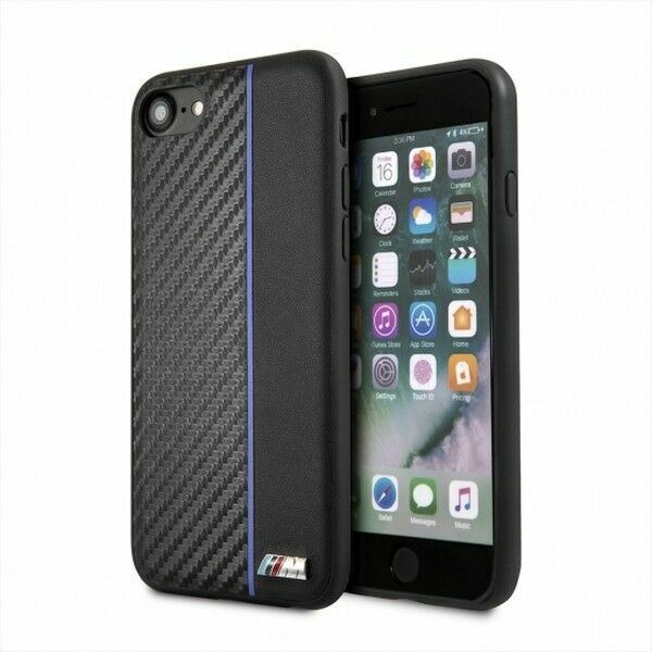 BMW M Sport Real Carbon Hard Case Cover for iPhone SE 2020 8 7 6s 6 Black GBP 19.99