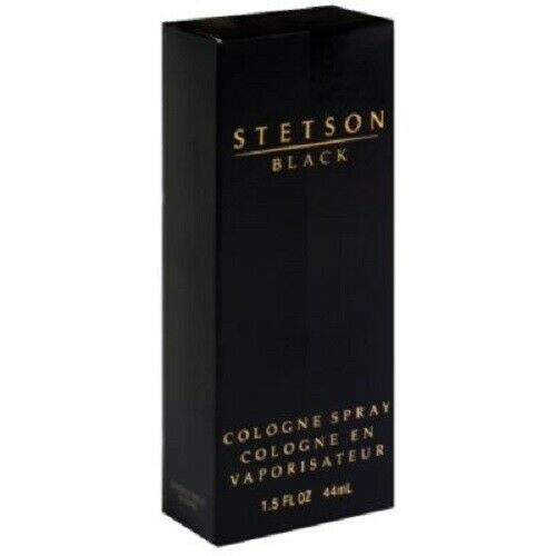 Stetson Black by Coty Cologne Spray 1.5 oz New in Box Image May Vary
