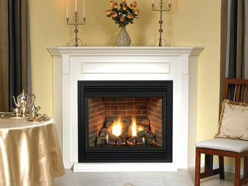 Empire Comfort Systems Tahoe Premium 48 DV Fireplace with Door Set and Frame LP