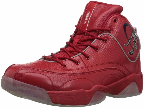 AND1 Men's Coney Island Classic Basketball Shoe Red/White/Black