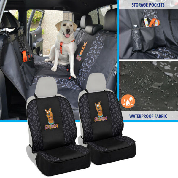 Waterproof Hammock Pet Seat Cover Universal Fit for Front amp; Rear Scooby Doo $45.90
