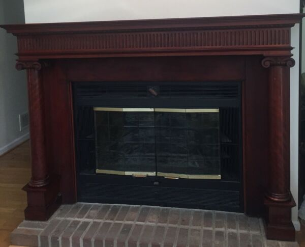 Vintage Federal Style Mahogany Fireplace Mantle - Beautiful Rich Color!