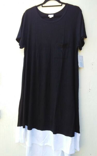 BUTTERY SOFT LULAROE   SIZE 2 X     BLACK & WHITE DIPPED CARLY