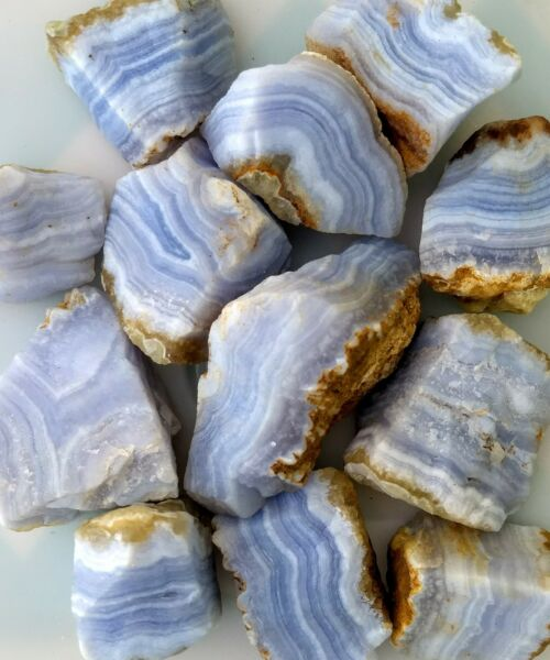 GemFarmer BLA: 14 LB Lot of Rough Blue Lace Agate From Namibia Throat Chakra