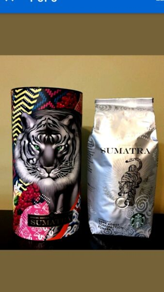 STARBUCKS TRISTAN EATON SUMATRA WHOLE BEAN COFFEE & CANISTER