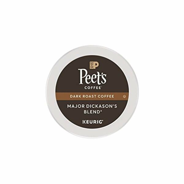Peets Coffee Major Dickasons Blend Dark Roast Arabica 75 K-Cup Pods KEURIG HOT