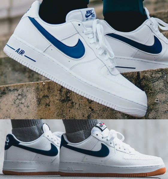 Nike Air Force 1 One Low 07 Sneaker Men's Lifestyle Shoes White Deep Royal