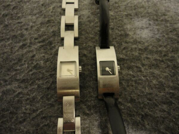 COACH SET- SWISS WOMENS REGISTERED STAINLESS 7J 732 QUARTZ WATCHES 0169-NEW BATT