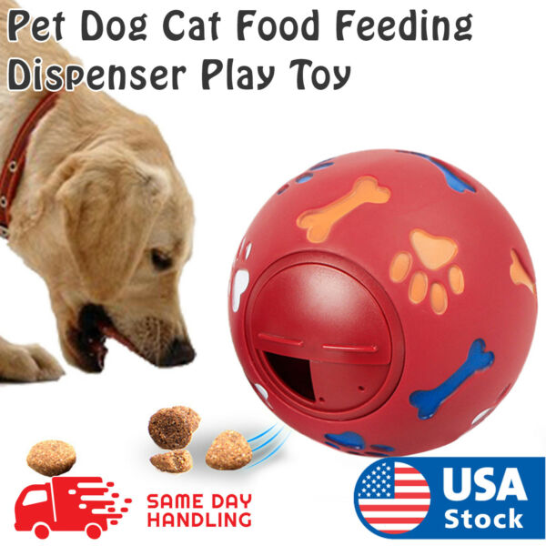 Pet Dog Puppy Cat Rubber Dental Teeth Chew Food Feeding Dispenser Play Toy