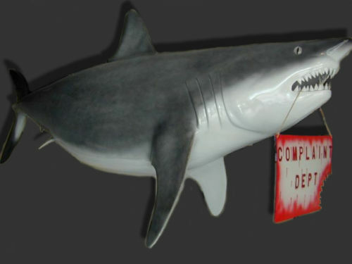 New Fiberglass Large Bull Shark Fish Mount