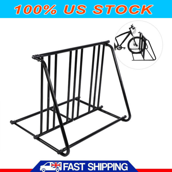 1 6 Bike Floor Parking Rack Storage Stand Holder Organizer Ground Bicycle Mount $54.50