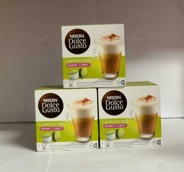NESCAFÉ DOLCE GUSTO Cappuccino SkinnyLight Coffee Pods 16 Capsules (Pack of 3
