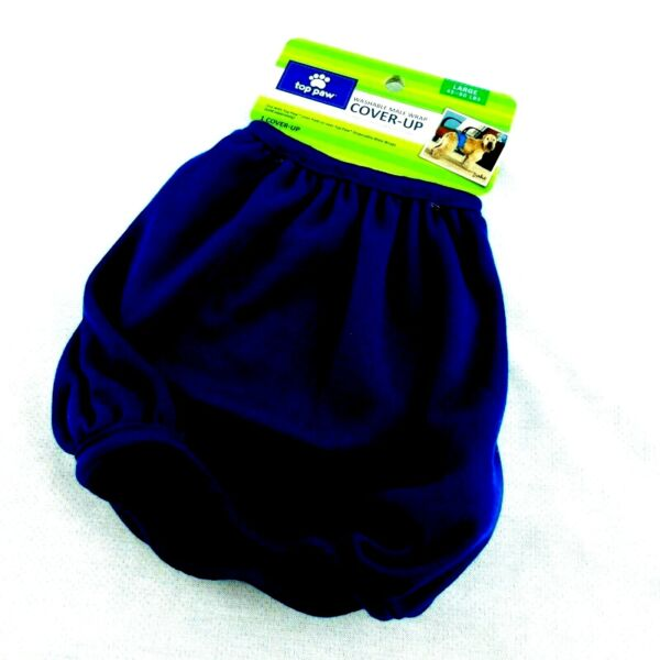 Top Paw Dog Washable Male Wrap Cover Up Diaper Belly Band Large Navy Blue $10.99