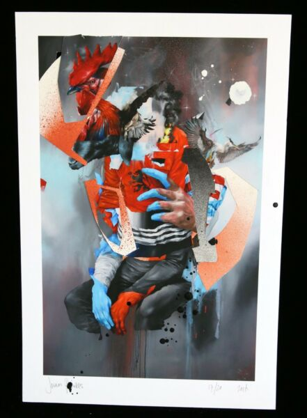 JORAM ROUKES Hand Finished signed print + sticker Banksy Shepard Fairey cope2