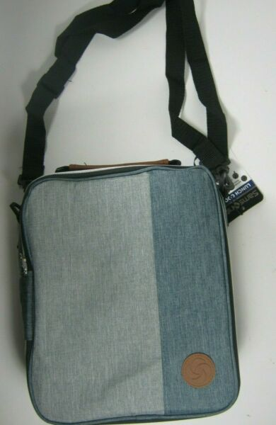 Samsonite Insulated Lunch Box Cooler Bag Gray With Removable Shoulder Strap New