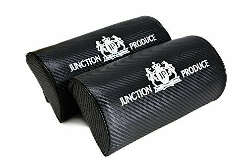JUNCTION PRODUCE Carbon Fiber Leather Car Seat Neck Cushion Pillow Headrests X2