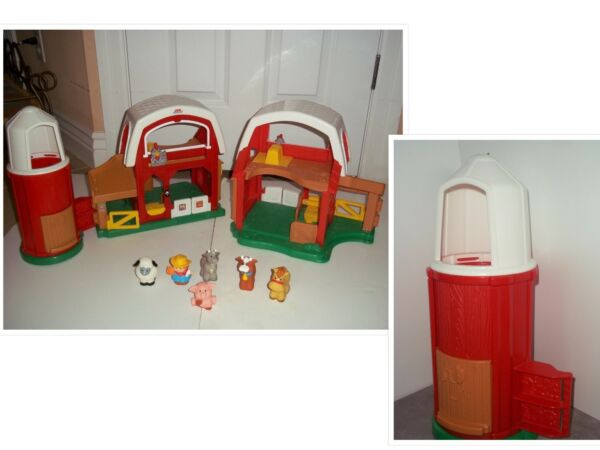 LOT Little People Fisher Price Farm Barn Animals & Sounds People + More
