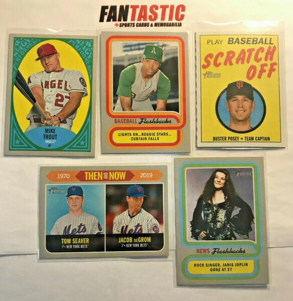 2019 Topps Heritage Insert U Pick NEW AGE PERFORMERS Then Now FLASHBACKS Scratch