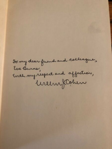 AUTOGRAPHED Social Security: Universal or Selective 1st Edition Hardcover COHEN $84.17