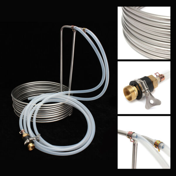 26' Stainless Steel Beer Immersion Wort Chiller Cooler Coils For Home Brew !
