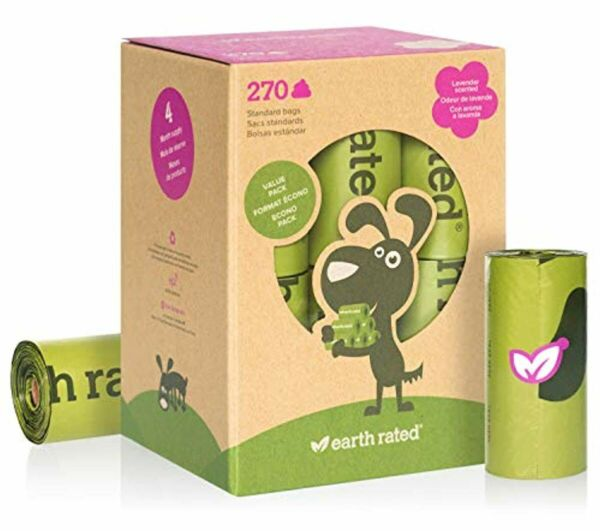 Earth Rated Eco Recycled Rolls Lavender Scented Dog Poo Poop 270 Bags New $15.94