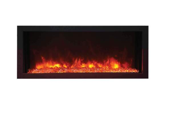 Amantii Panorama Indoor Outdoor Extra Slim Built In Electric Fireplace 30quot;