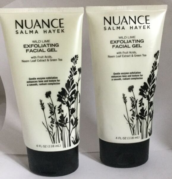 New 2 Pack Nuance Salma Hayek Wild Lime Exfoliating Facial Gel  4 oz