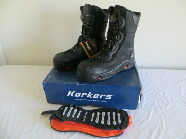 KORKERS ICEJACK PRO SAFETY BOOTS - BLACK - ICE & SNOW - MEN'S BRAND NEW