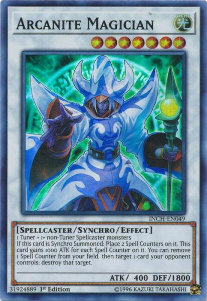 Yugioh! Arcanite Magician - INCH-EN049 - Super Rare - 1st Edition Near Mint Eng