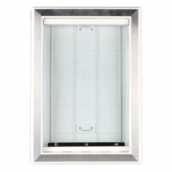 Weather Pet Dog Doors Exterior Cat Entry Large Dogs Heavy Duty Locking Panel M L $33.25