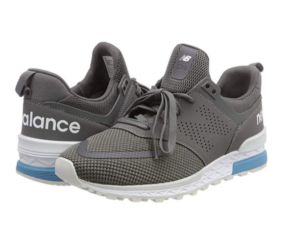 NEW BALANCE MEN'S SNEAKERS MS574 BLACK/WHITE AND GREY/WHITE