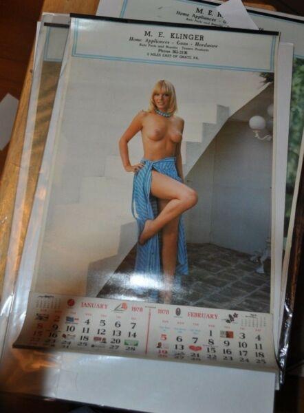 Vintage Sexy Pin Up Blonde Woman Hardware Store Calendar 1978 Unused Beautiful