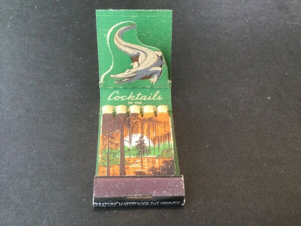 Feature Unused Matchbook Barker Hotel Los Angeles Everglades Room Alligator