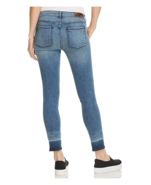NEW WOMEN'S PARKER SMITH JEANS KAM CROP SKINNY IN CORAL SZ 4=27 BLUE