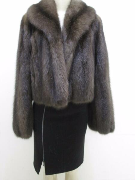 Genuine Barguzin Russian Sable Fur Jacket Coat Sz 12+ Val $118000.00 New