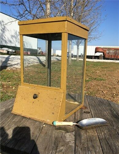 Countertop Display Case Country Store Cabinet Peanuts Candy Vending Machine OLD!