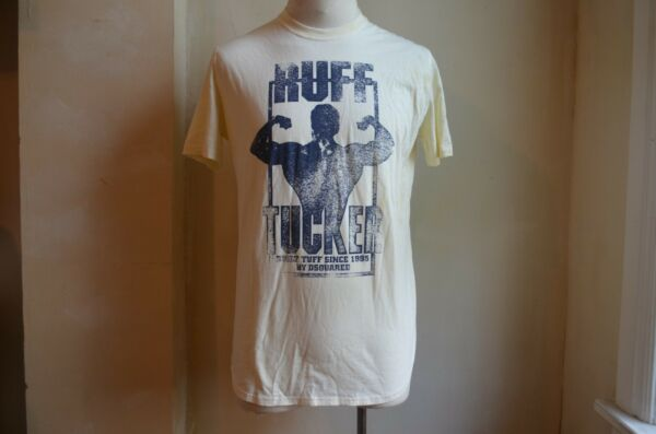DSQUARED² COOL DISTRESSED STAIN YELLOW RUFF TUCKER MUSCLE PRINT T SHIRT S XXL IT $99.99