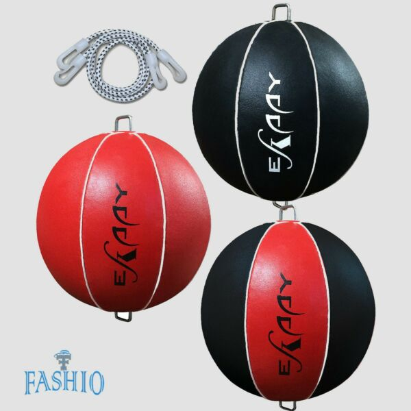 Leather Double End Ball Dodge Floor to Ceiling Rope Speed Punch Bag Set $16.99