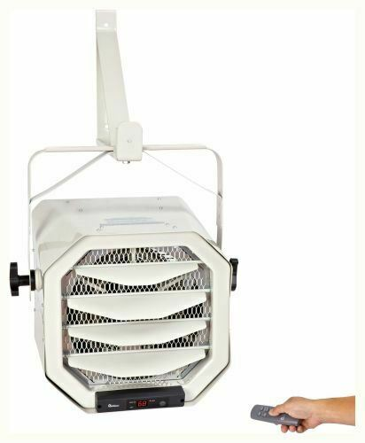 Wall Ceiling Mounted Hardwired Shop Garage Heater w Remote Thermostat
