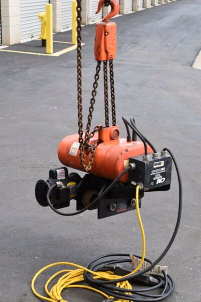 CM Lodestar model RT with 635 Motor Driven Trolley 3 Ton 30 ft lifting height