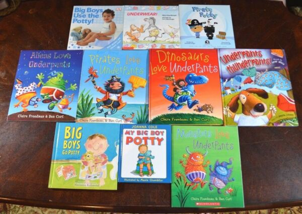 Set of 10 Potty Theme Baby Board and Picture Books toddler Underpants P14