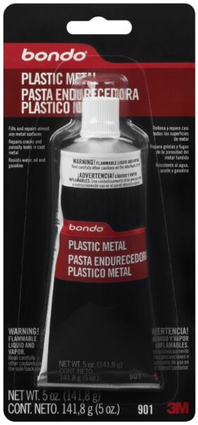 3M Bondo Plastic Metal - Metal Crack  Hole Repair Sealant 5 Oz 901